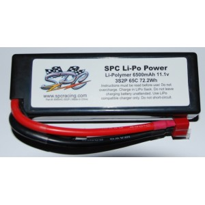 SPC LiPo Power, Lithium Polymer (LiPo) Battery Pack; 6500mAh, 65C, 3S, 11.1V Hard-Case