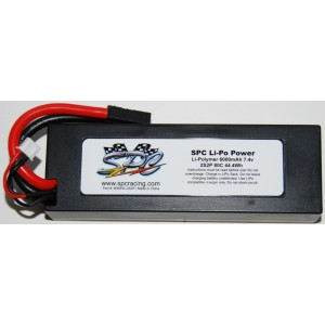 SPC LiPo Power, Lithium Polymer (LiPo) Battery Pack; 6000mAh, 80C, 2S, 7.4V Hard-Case