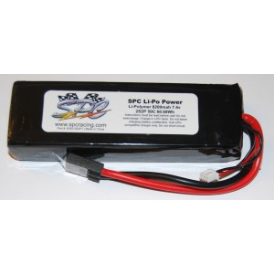 SPC LiPo Power, Lithium Polymer (LiPo) Battery Pack; 8200mAh, 50C, 2S, 7.4V Soft-Case