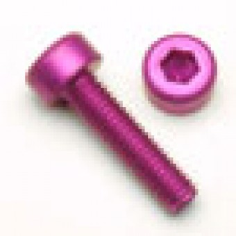 Purple Socket Head Screw, Aluminum Anodized, M4 x .7 x 12mm, 7075 T6