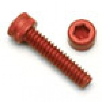 Red Socket Head Screw, Aluminum Anodized, M5 x .8 x 7mm, 7075 T6