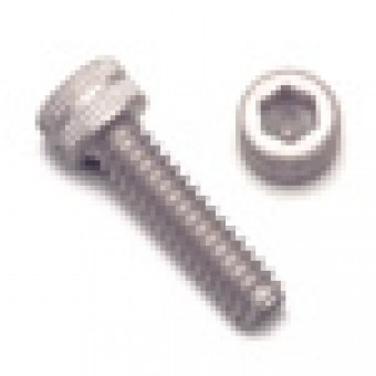 Silver Socket Head Screw, Aluminum Clear Anodized, M4 x .7 x 10mm, 7075 T6